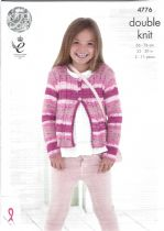 King Cole Cottonsoft Crush DK Knitting Pattern - 4776 Cardigans